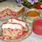 ciasto mocno porzeczkowe...