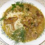 grzybowa zupa z podgrzybk...