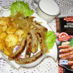 kiełbaski z ziemniakami...