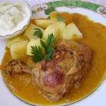 udka kurczaka w sosie...