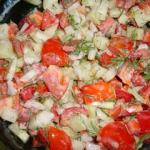 cztery kolory  salatka na...