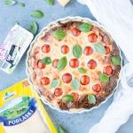 Serowa tarta z pomidorami
