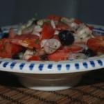 Grecka salatka z fasoli