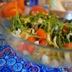 Salatka z cykorii, rukoli...