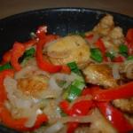 Ryba z papryka i cebula