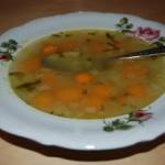 Zupa z mlodej marchewki
