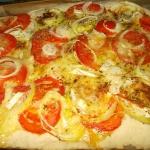 Pizza z pomidorami, grill...