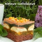 ciasto mietowo-czekoladow...