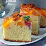 Łatwe ciasto z owocami...