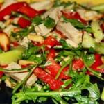 Tajska Salata z Tofu, Orz...