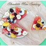 Fruit pizza with summer f...