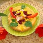 633. Omlet z lososiem i c...