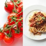 Spaghetti z pomidorkami...