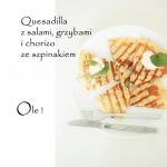 Quesadilla z chorizo, sal...