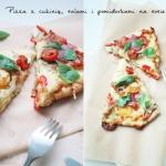 Pizza z cukinią, salami...