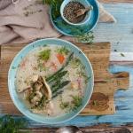 Zupa rybna ze szparagami