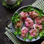 Różowe jajka...