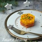 Tatar z lososia z mango