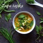 Tajska zupa z fasolką...