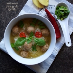 Tajska zupa z ryżem
