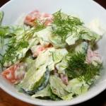 Surowka obiadowa z salaty...