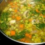 Zupa z pieczarkami i ziel...