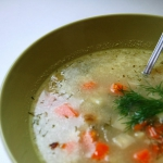 Zupa koperkowa z ryzem