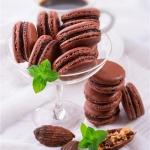 Schokoladen  Macarons z...