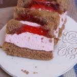 Ciasto z owocowa pianka
