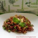 Paella z czerwonego ryzu ...