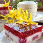 Ciasto budyniowo-maliowe