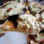 Pizza z baklazanem, boczk...
