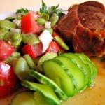 Duszona karkowka i salatk...