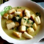 Zupa krem z zielonego gro...