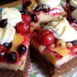 Ciasto z owocami i budyni...