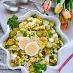 Sałatka curry z jajkiem