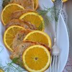 Schab w pomaranczach