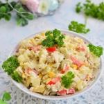 Sałatka z ryżem,...