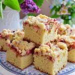 Ciasto z rabarbarem,...