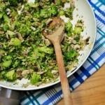 Brokuły z pieczarkami