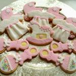 Ciastka na chrzest Klary