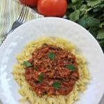 Makaron w sosie pomidorow...
