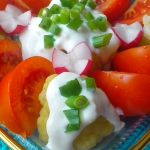 Warzywa z sosem czosnkowy...