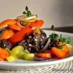 Kaszanka z warzywami