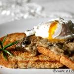 Grzanki z grzybami i jajk...