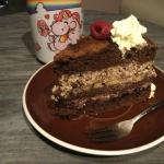 Tort czekoladowy z banana...