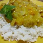 Kurczak w curry z dynia, ...