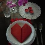 Walentynkowe nakrycie...