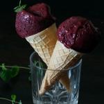Fit lody jagodowe