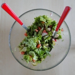 Zielono-czerwona salatka